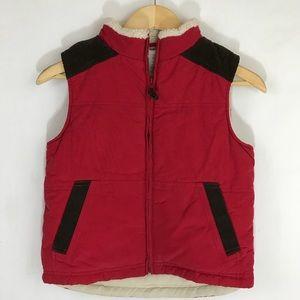 NWT Gymboree Fleece lined Red Vest, sz S (k10)